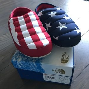 5b1b2be5765e The North Face Shoes - Size 10 Men s North Face IC Mule Slippers USA Flag